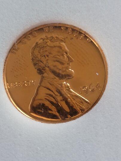 1964 gem proof lincoln cent Item Image