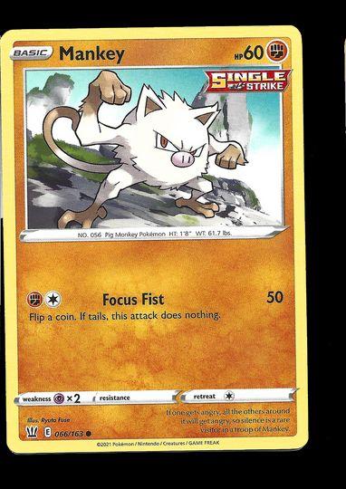 066/163 Mankey Battle Styles Common Mint Item Image