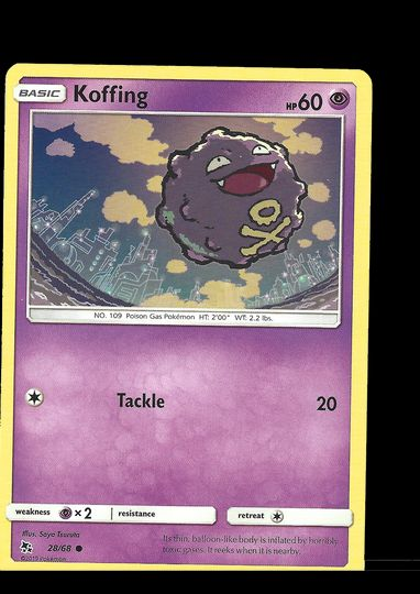 28/68 Koffing Hidden Fates Common Mint Item Image