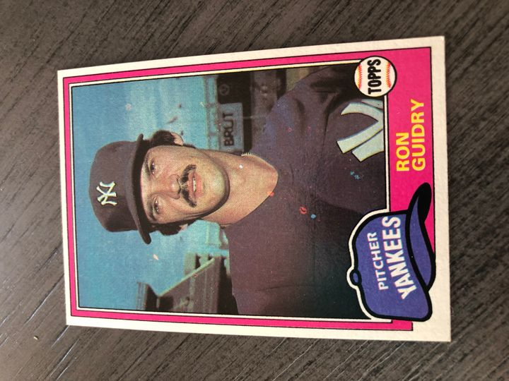 1981 TOPPS RON GUIDRY 250 Item Image