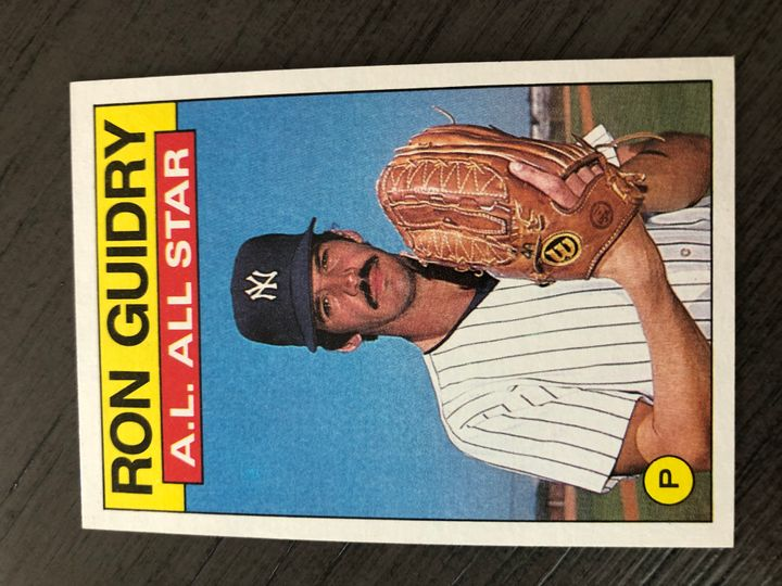 1986 TOPPS RON GUIDRY 721 Item Image